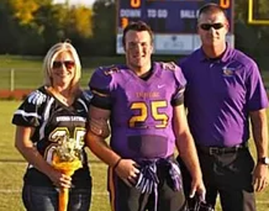 Trace Bulger with his mom, Amy, and dad, Dan.