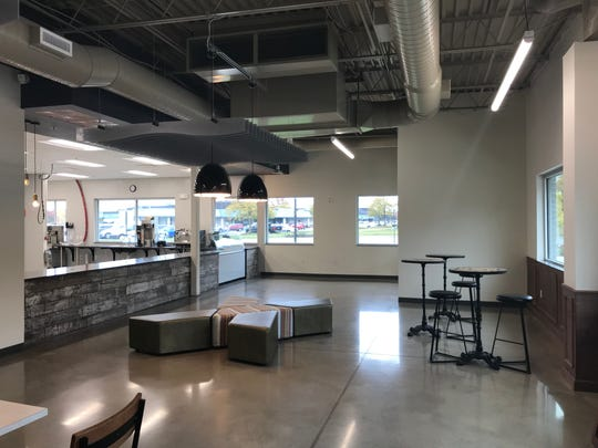 The interior of the new D&R location in the North End Community Center on Elmwood Ave. The fast-casual restaurant will open in the location previously occupied by Flower Mill Bakery.