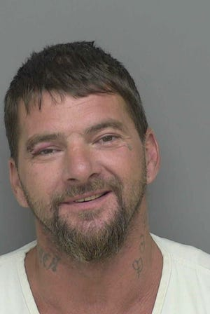 Carl Prince, 44, is charged with numerous felonies including resisting, obstructing a police officer.
