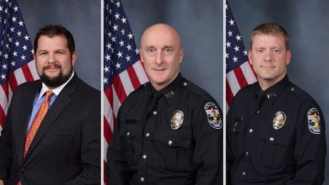 Former Louisville Metro Police officers Brian Stanfield, Todd Roadhouse and Mark Final.