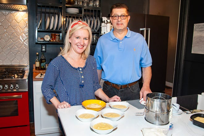 Dana McMahan and Guy Genoud with Brasserie Provence make Panisse, a savory French snack.