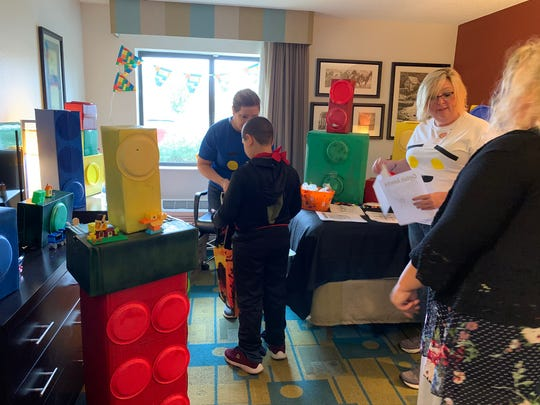 "Each of the rooms at Sunday's ""Just Treats and Suites"" event had different themes, such as Legoland."