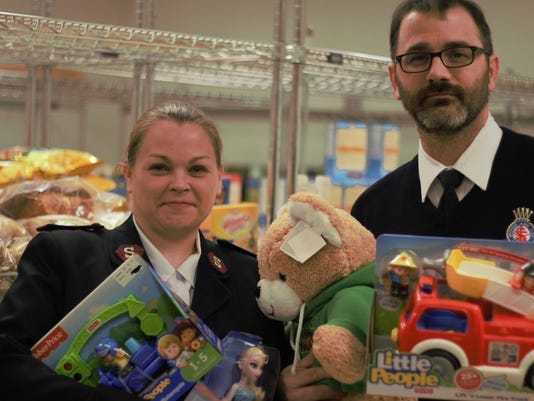 Kristin and Jason Price are the captains of the Salvation Army Marion, Ohio Corps. The organization is currently accepting donations for its Angel Tree program. The familiar Salvation Army red kettles will be set up around Marion after Thanksgiving to collect donations.
