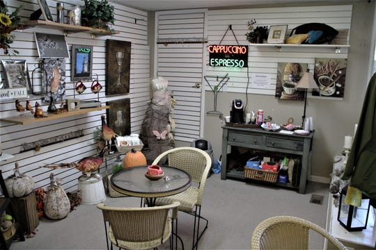 In addition to its upscale ladies' clothing, Southern Accents Boutique has a cafe corner where customers can enjoy a cup   of coffee and relax during their shopping experience.