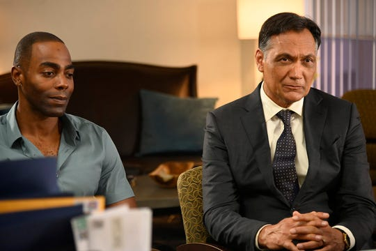 """The All-American"" Episode 106:Clifton Duncan as Marcus Wright and Jimmy Smits as Elijah Strait"