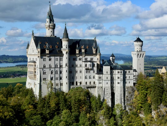Neuschwanstein Castle is one of many monuments to royal privilege in southern Germany.