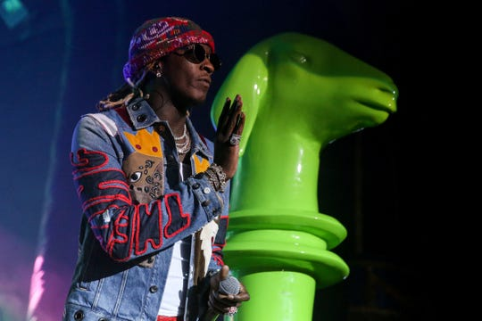 Young Thug performs at the Rave's Eagles Ballroom on Oct. 27, 2019.