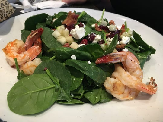 The shrimp salad was one of the featured items at the preview event for Walk-On's Bistreaux & Bar in Montgomery.