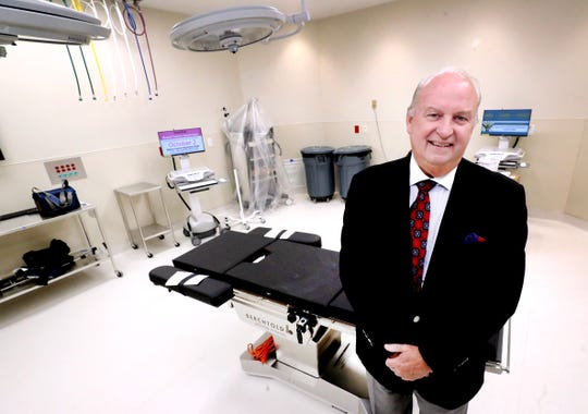 Dr. John W. Brock III, senior vice president of pediatric surgical services for Vanderbilt's Monroe Carell Jr. Children's Hospital, stands in one of the operating rooms of the new Vanderbilt Children's Surgery and Clinics building in Murfreesboro during a preview tour Oct. 28.