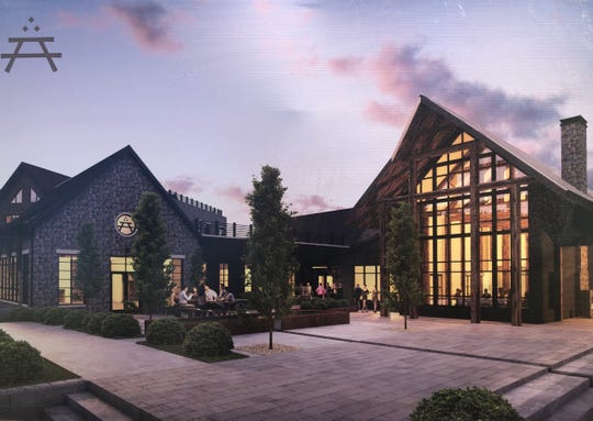 A rendering shows the inn at Southall Farms, which will feature 62 rooms, an executive boardroom and a signature restaurant featuring items grown on the land.