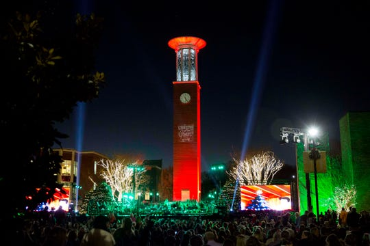 Lipscomb University's 15th annual Lighting of the Green kicks off the holiday season Dec. 3.