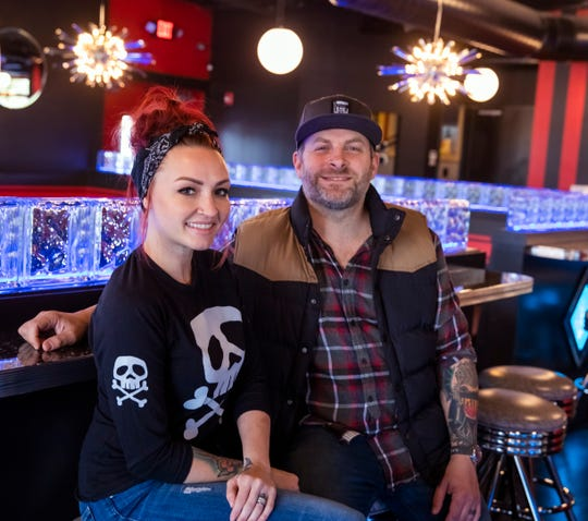Fat Kat Slim's owners Bonnie Valentine and Christopher Weber at their restaurant Monday, October 28, 2019.