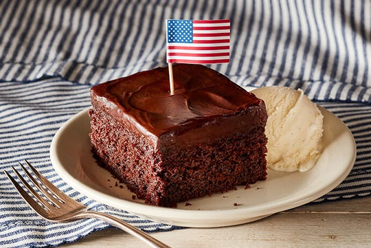 Cracker Barrel is offering a free Double Chocolate Fudge Coca-Cola Cake dessert or Pumpkin Pie Latte for Veterans Day.