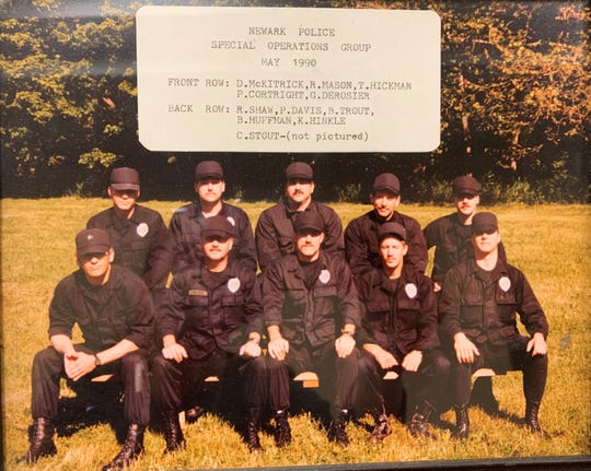 A May 1990 photo shows the first Newark Division of Police Special Operations Group. The division's SOG unit was created in 1989 and marks its 30th anniversary in 2019.