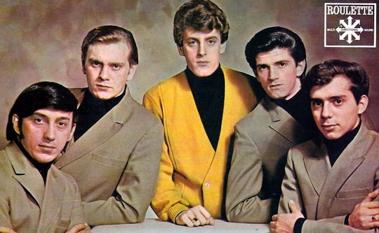 Tommy James (middle) and the Shondells signed to Roulette in 1966