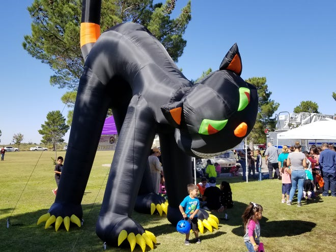 Deming-Luna County MainStreet Program's Big Halloween Cat is expected to make an appearance (weather permitting) during the second annual Trunk or Treat Down Main Street event from 6 to 8 p.m, on Thursday, Halloween night.
