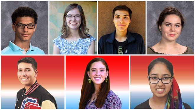 From top left: Mohammed Badawy, Mireya Sanchez-Maes, Nicholas Simon Grijalva and Rebekah Ruff. From bottom left: Andruw Fierro, Julia Fernald and Reema Iqbal
