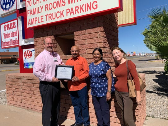 The White Sands Beautification Committee recognized White Sands Motel on Oct. 11.