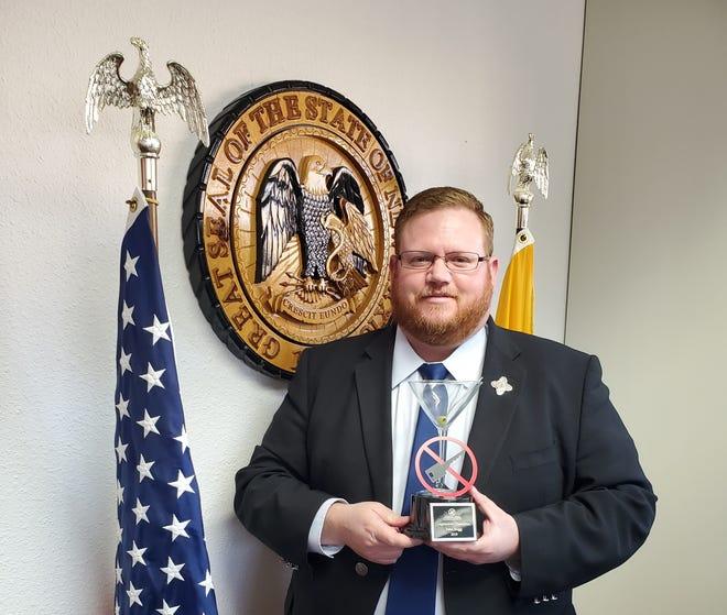 Twelfth Judicial District Attorney .John P. Sugg received the 2019 Legislative Champion Award for advocating stricter DWI legislation. Courtesy photo.