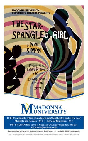 """The Star-Spangled Girl"" is coming to Madonna University."