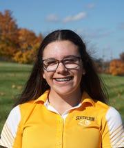 South Lyon High varsity golfer Gabriella Tapp.