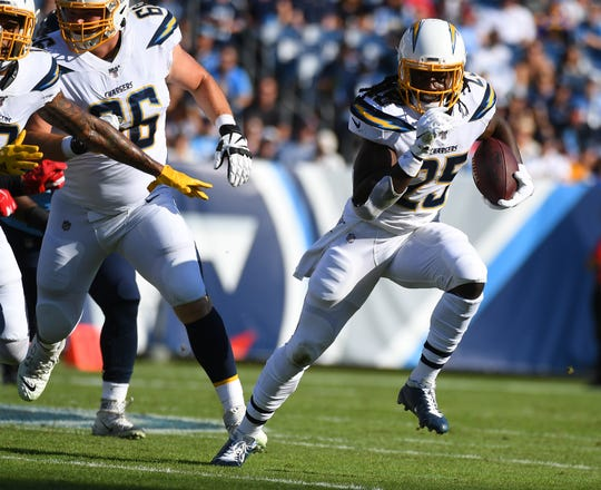 Former University of Wisconsin and current Los Angeles Chargers running back Melvin Gordon hasn't gotten on track since holding out to start the year.