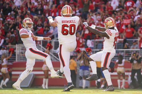The San Francisco 49ers have a lot to smile about. The team is 7-0 on the season entering its game with the Arizona Cardinals on Thursday.
