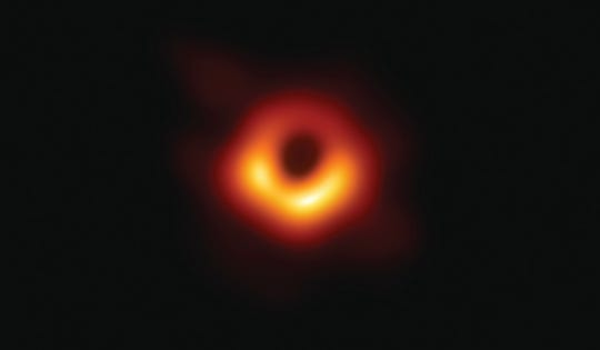 EHT researchers revealed the first direct visual evidence of the supermassive black hole in the center of Messier 87 and its shadow.