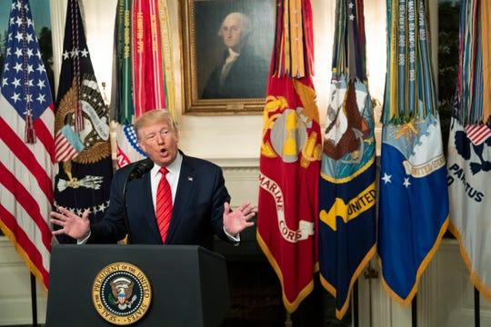 Trump anuncia el abatimiento del líder de Estados Islámico desde la Casa Blanca.