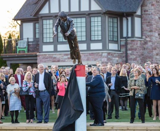 Five bronze statues were unveiled at a St. Clair Inn charity event on Oct. 25, 2019.
