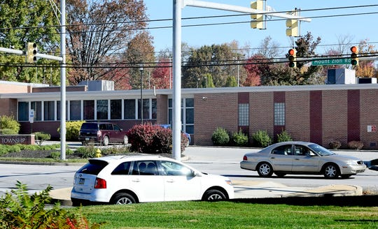 Areas like the intersection of Mt. Zion Road at the township municipal center and York Galleria Mall, Monday, Oct. 28, 2019, may undergo changes per the Springettsbury Township Transportation Plan. The Township Board of Supervisors voted Oct. 24 to accept the final draft of the plan, which details a 20 year analysis of current and future viable solutions for improving roads and intersections. Bill Kalina photo