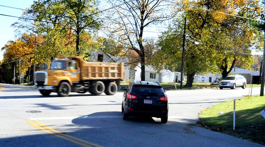 Areas like the intersection of Mt. Zion and Druck Valley roads, Monday, Oct. 28, 2019, may undergo changes per the Springettsbury Township Transportation Plan. The Township Board of Supervisors voted Oct. 24 to accept the final draft of the plan, which details a 20 year analysis of current and future viable solutions for improving roads and intersections. Bill Kalina photo