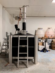 A cutting edge iStill in the distillery room at the new Ferino Distillery on East Fourth Street in Reno.