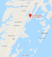 Map showing approximate location where a woman was found deceased in Accomack County, Virginia on Friday, Oct. 25, 2019.