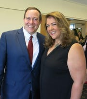Former Shreveport City Councilman Jeff Everson and his wife, Dr. Andrea M. Everson, a finalist for The Times Most Influential  Woman Award, at the luncheon.