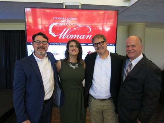 Times staffers at The Times 2019 Most Influential Woman Luncheon: Clifton LeFort, Sarrah Walton, Bill Tice and Times Editor Scott Ferrell.
