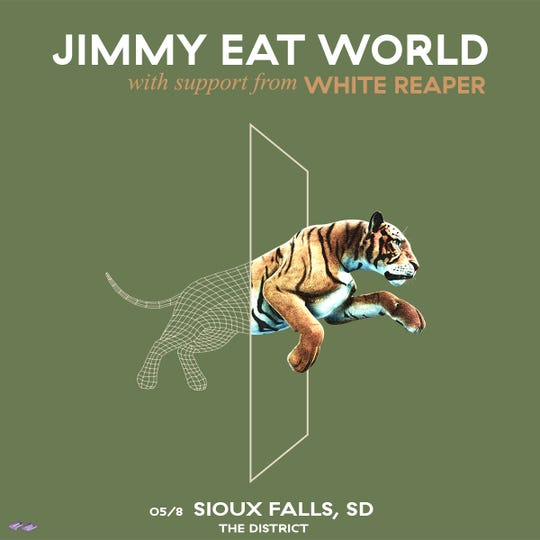 Jimmy Eat World will play The District on May 8.