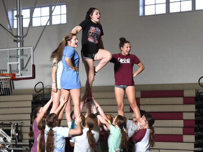 Two-time defending state champions, the Stuarts Draft competition cheer team will be in the Region 2B tournament Wednesday, Oct. 30.