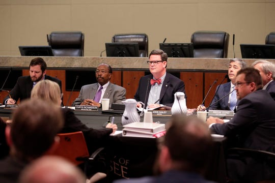The City Commission listens as Tallahassee residents publicly share their feelings on ethics or how they feel about City Manager Reese Goad on Monday, Oct. 28, 2019.