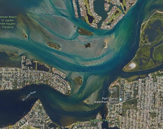 Officials said a boat crash in the Atlantic Intracoastal Waterway near Sandspirit Park and Sewall's Point sent two people to a hospital Sunday with serious injuries.