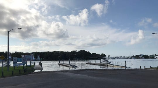 There were no obvious signs Monday morning at Sandsprit Park of remnants of boat crash that happened about 8 a.m. Oct. 27, 2019, in Stuart.