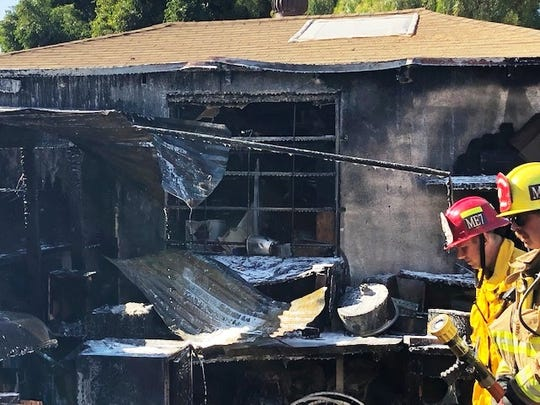 Ventura Fire Department crews put out a fire caused by overloaded electrical equipment in the 300 block of Wall Street Monday.