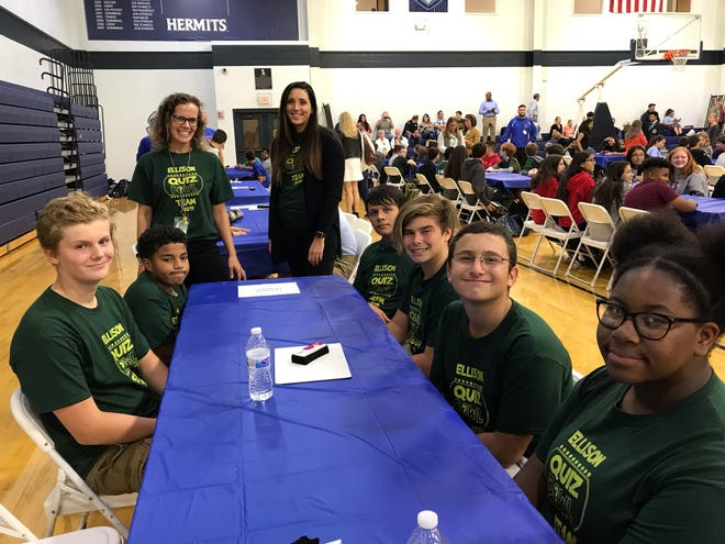 Some seventh and eighth-grade students from The Ellison School in Vinelandrecently participated in St. Augustine College Preparatory School's 12th annual Quiz Bowl. The Ellison Eagles represented their school well. They answered questions regarding multiple academic disciplines. The event, hosted by the Prep's Academic Team, has become a fall favorite for Ellison's students and families. For information, call (856) 691-1734 or visit www.ellisonschool.org.