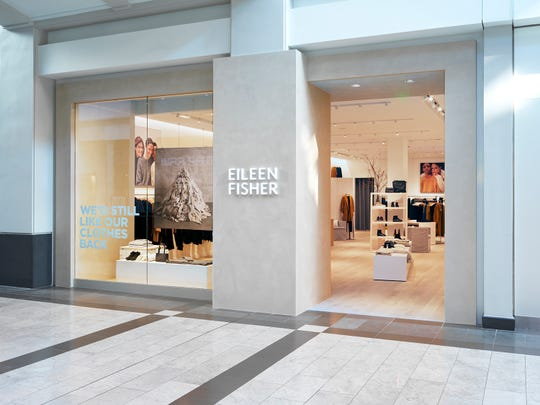 The door to the newly refurbished Eileen Fisher store at The Westchester.