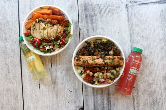 Salads at fresh&co. The healthy fast-casual eatery is opening Oct. 31 in Yonkers.