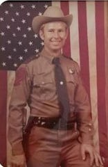 Wichita County sheriff's deputy Ed Daniels' once served as a highway patrolman. Pictured here in his patrolman uniform, he has a 50-year long career in law enforcement.