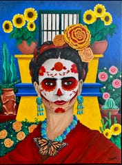 Guests can purchase $10 raffle tickets to hopefully win Tulsa-based artist Jeff Brane's painting at Los Muertos: A Celebration of Life from 5 to 10 p.m. Saturday on Travis St. between 8th and 9th Streets