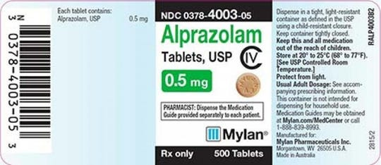 "Mylan Pharmaceuticals is voluntarily recalling one lot of the prescription anti-anxiety drug Alprazolam nationwide because of ""the potential presence of a foreign substance."""