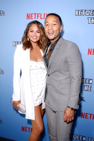 Chrissy Teigen shares that John Legend took a flight to come see her for a few hours.