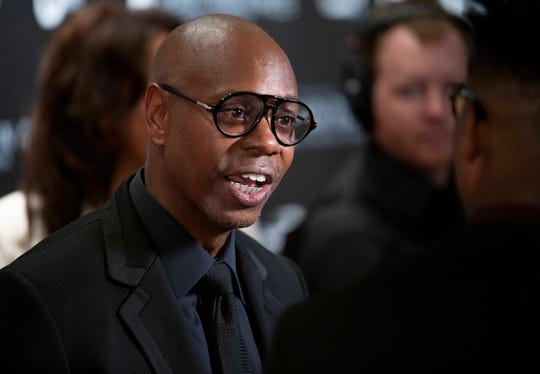 Dave Chappelle arrives at the Kennedy Center on Oct. 27, 2019, in Washington, D.C., to receive the Mark Twain Prize in American Humor.